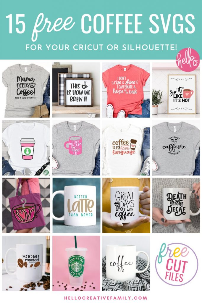 Do you, your friends or family members love coffee? If so, we've got 15 free Coffee Cut files that you are going to love including a Mama Needs Coffee SVG! Make DIY gifts for coffee lovers including DIY coffee mugs, shirts, tea towels, stickers and more using your Cricut or other electronic cutting machine!